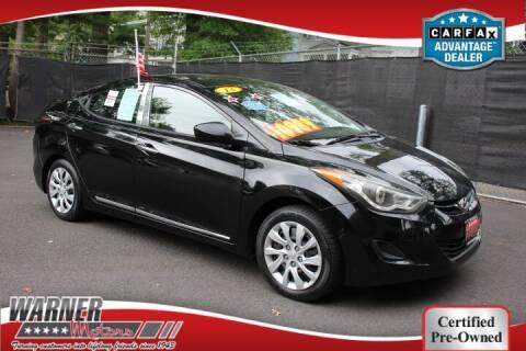 2013 Hyundai Elantra for sale at Warner Motors in East Orange NJ
