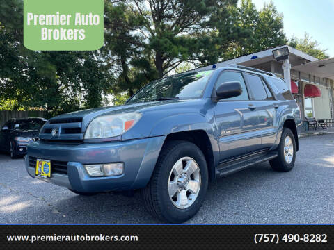 2004 Toyota 4Runner for sale at Premier Auto Brokers in Virginia Beach VA