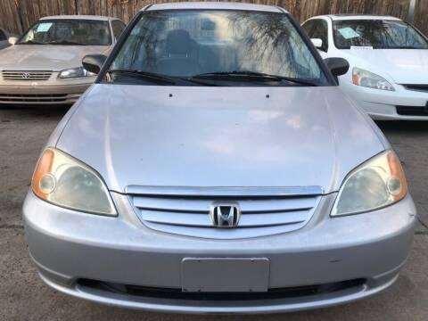 2002 Honda Civic for sale at Delta Auto Alliance in Houston TX