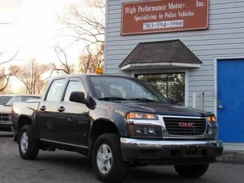 2007 GMC Canyon for sale at High Performance Motors in Nokesville VA