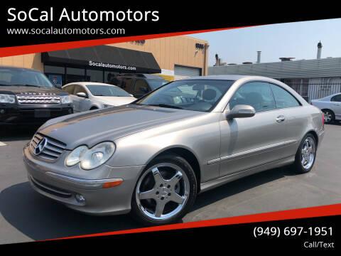 2003 Mercedes-Benz CLK for sale at SoCal Automotors in Costa Mesa CA