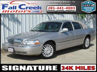 2006 Lincoln Town Car for sale at Fall Creek Motor Cars in Humble TX