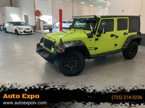 2017 Jeep Wrangler Unlimited for sale at Auto Expo in Las Vegas NV