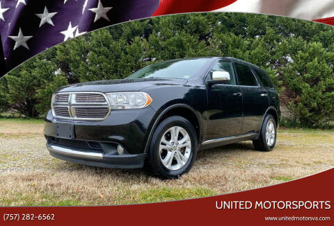 2012 Dodge Durango for sale at United Motorsports in Virginia Beach VA