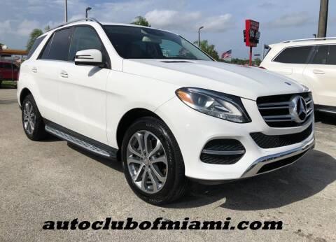 2016 Mercedes-Benz GLE for sale at AUTO CLUB OF MIAMI, INC in Miami FL