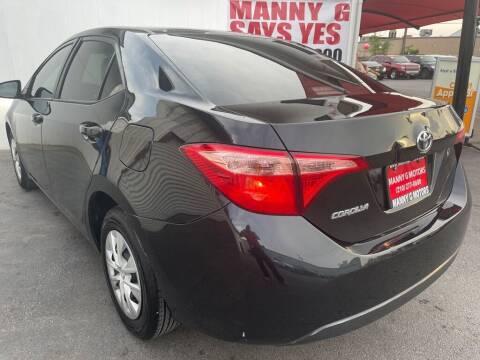2019 Toyota Corolla for sale at Manny G Motors in San Antonio TX