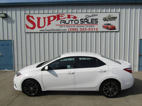 2016 Toyota Corolla for sale at SUPER AUTO SALES STOCKTON in Stockton CA