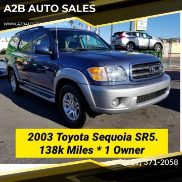 2003 Toyota Sequoia for sale at A2B AUTO SALES in Chula Vista CA