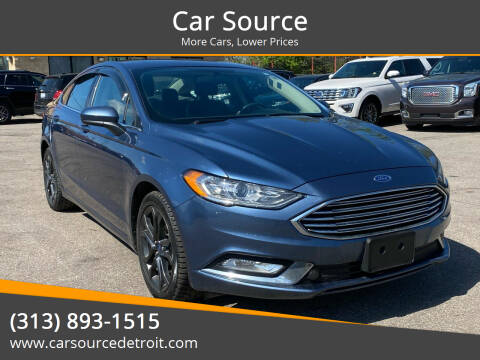 2018 Ford Fusion for sale at Car Source in Detroit MI