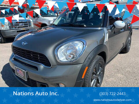 2014 MINI Countryman for sale at Nations Auto Inc. in Denver CO