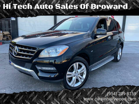2012 Mercedes-Benz M-Class for sale at Hi Tech Auto Sales Of Broward in Hollywood FL