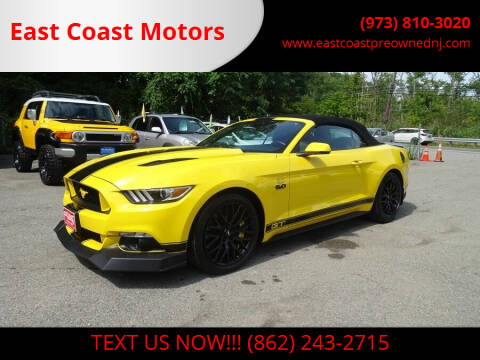 2016 Ford Mustang for sale at East Coast Motors in Lake Hopatcong NJ