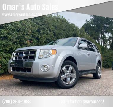2010 Ford Escape for sale at Omar's Auto Sales in Martinez GA