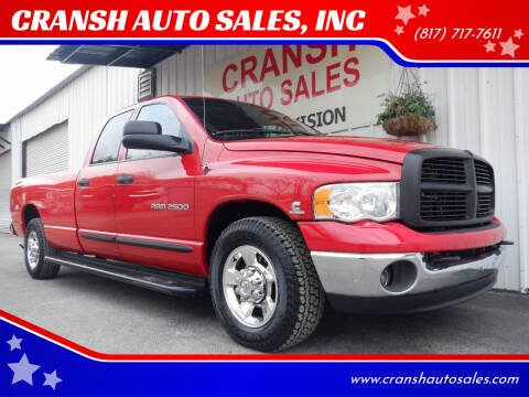 2005 Dodge Ram Pickup 2500 for sale at CRANSH AUTO SALES, INC in Arlington TX