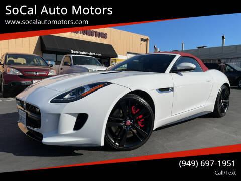 2015 Jaguar F-TYPE for sale at SoCal Auto Motors in Costa Mesa CA