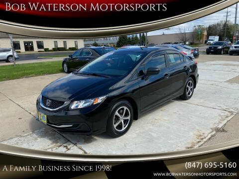 2015 Honda Civic for sale at Bob Waterson Motorsports in South Elgin IL