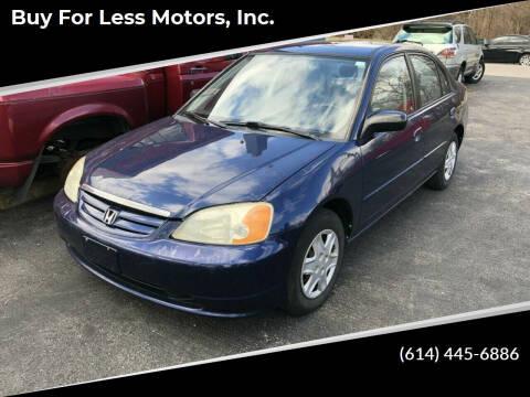 2003 Honda Civic for sale at Buy For Less Motors, Inc. in Columbus OH