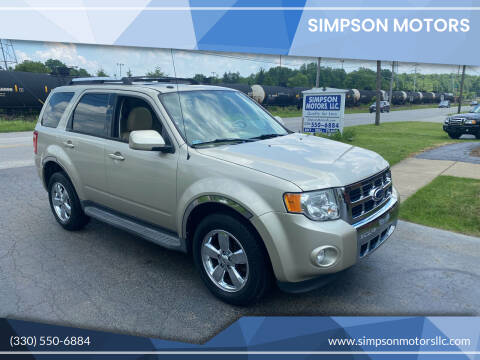 2012 Ford Escape for sale at SIMPSON MOTORS in Youngstown OH