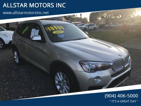 2017 BMW X3 for sale at ALLSTAR MOTORS INC in Middleburg FL