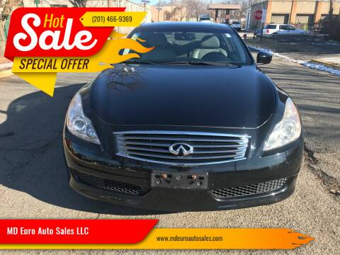 2009 Infiniti G37 Coupe for sale at MD Euro Auto Sales LLC in Hasbrouck Heights NJ
