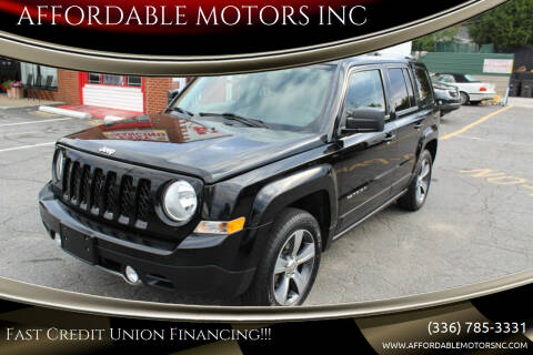 2016 Jeep Patriot for sale at AFFORDABLE MOTORS INC in Winston Salem NC