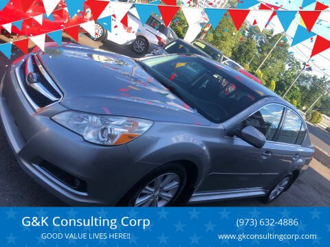 2011 Subaru Legacy for sale at G&K Consulting Corp in Fair Lawn NJ