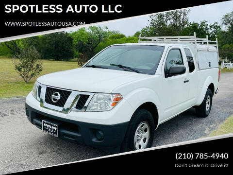 2016 Nissan Frontier for sale at SPOTLESS AUTO LLC in San Antonio TX