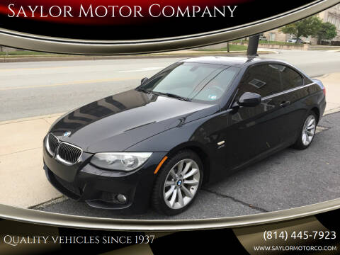 2013 BMW 3 Series for sale at Saylor Motor Company in Somerset PA