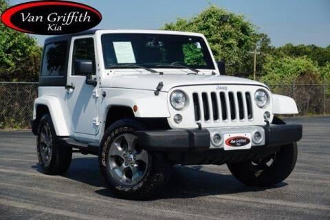 2018 Jeep Wrangler JK for sale at Van Griffith Kia Granbury in Granbury TX