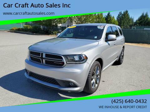 2014 Dodge Durango for sale at Car Craft Auto Sales Inc in Lynnwood WA