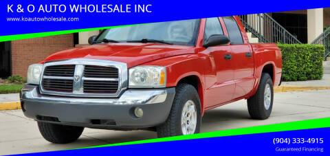 2005 Dodge Dakota for sale at K & O AUTO WHOLESALE INC in Jacksonville FL