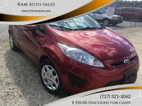 2013 Ford Fiesta for sale at Ram Auto Sales in Gettysburg PA