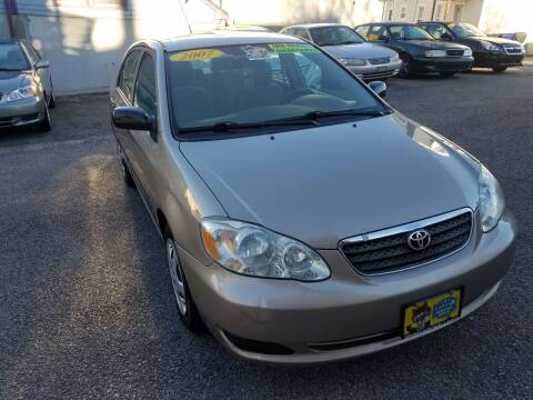 2007 Toyota Corolla for sale at Fortier's Auto Sales & Svc in Fall River MA