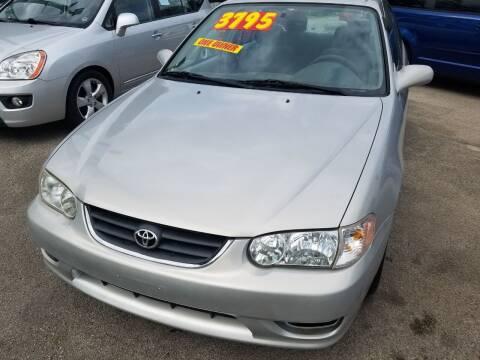 2001 Toyota Corolla for sale at RBM AUTO BROKERS in Alsip IL