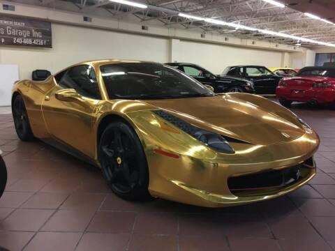 2011 Ferrari 458 Italia for sale at Limitless Garage Inc. in Rockville MD