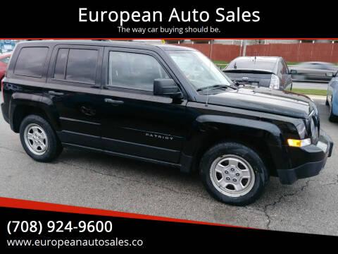 2012 Jeep Patriot for sale at European Auto Sales in Bridgeview IL