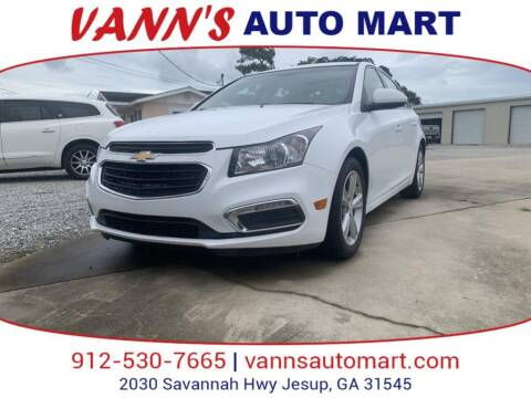 2016 Chevrolet Cruze Limited for sale at VANN'S AUTO MART in Jesup GA