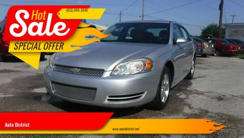 2013 Chevrolet Impala for sale at Auto District in Baytown TX