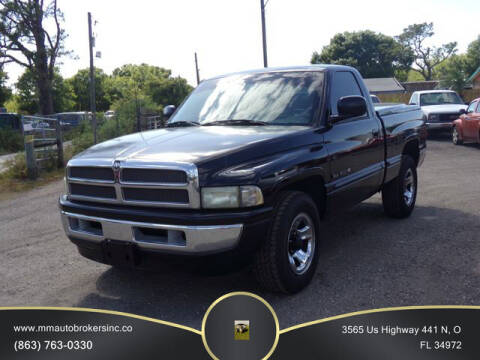 1998 Dodge Ram Pickup 1500 for sale at M & M AUTO BROKERS INC in Okeechobee FL