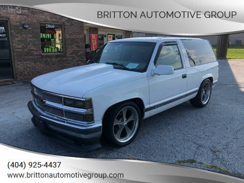 1996 Chevrolet Tahoe for sale at Britton Automotive Group in Loganville GA