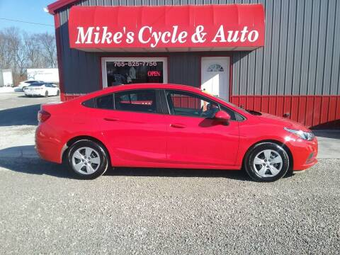 2018 Chevrolet Cruze for sale at MIKE'S CYCLE & AUTO in Connersville IN
