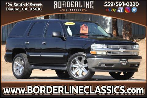 2005 Chevrolet Tahoe for sale at Borderline Classics in Dinuba CA