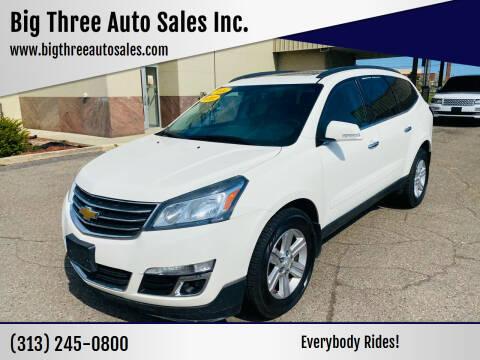2014 Chevrolet Traverse for sale at Big Three Auto Sales Inc. in Detroit MI