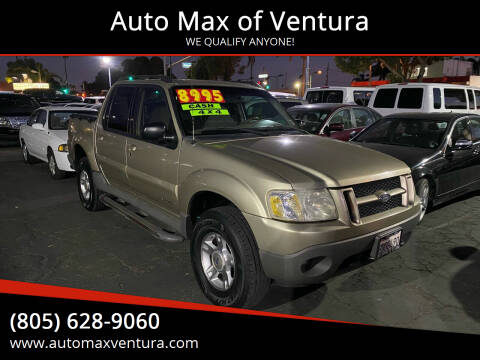 2001 Ford Explorer Sport Trac for sale at Auto Max of Ventura in Ventura CA