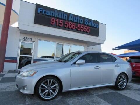 2008 Lexus IS 250 for sale at Franklin Auto Sales in El Paso TX