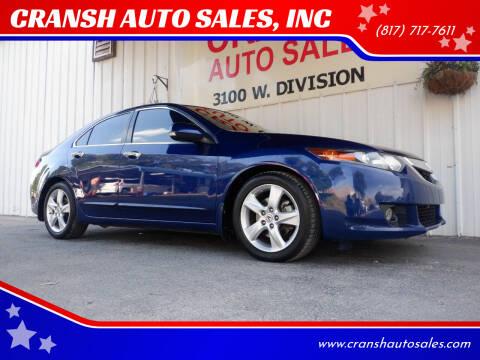 2010 Acura TSX for sale at CRANSH AUTO SALES, INC in Arlington TX