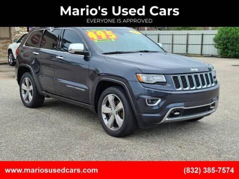 2014 Jeep Grand Cherokee for sale at Mario's Used Cars - Pasadena Location in Pasadena TX