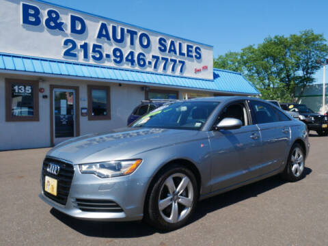 2012 Audi A6 for sale at B & D Auto Sales Inc. in Fairless Hills PA