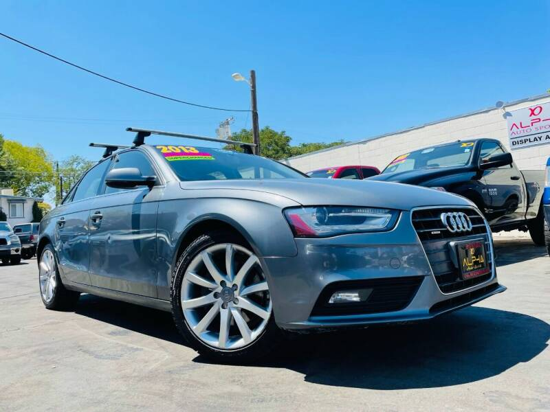 2013 Audi A4 for sale at Alpha AutoSports in Roseville CA