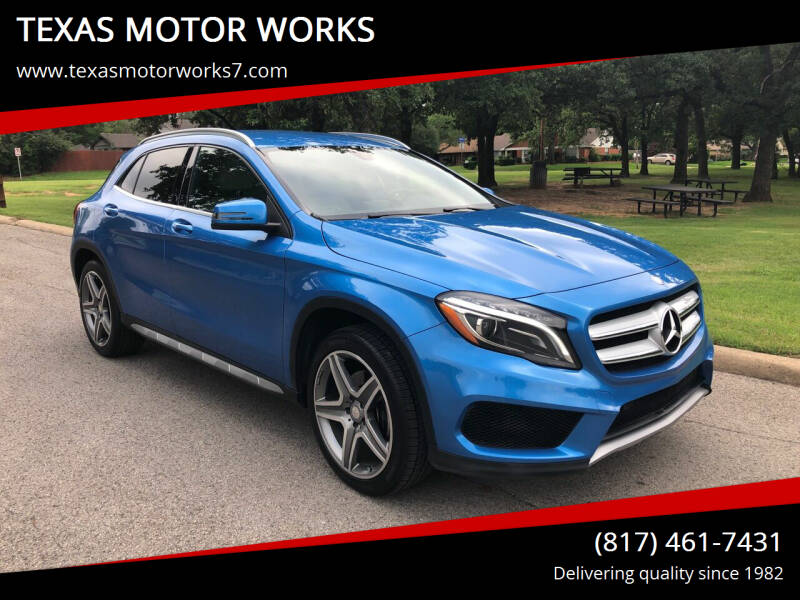 2015 Mercedes-Benz GLA for sale at TEXAS MOTOR WORKS in Arlington TX